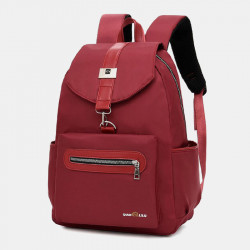 Women Anti-theft Large Capacity Light Weight Pure Color Backpack