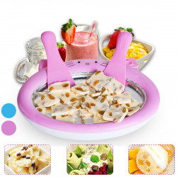 Mini Cartoon Ice Cream Maker Homemade Fried Yogurt Machine Summer Cool Ice Maker
