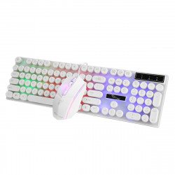 104 Keys Colorful Backlight USB Wired Gaming Keyboard and Gaming Mouse Combo for PC Latop