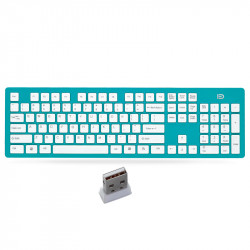 FD K3 Portable Wireless Silent 104 Keys Keyboard Ultra-thin USB Office Chocolate Cap Keyboard with 2.4GHz USB Receiver