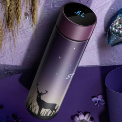 KCASA CS04-450 450ML Smart Mug Stainless Steel Water Thermal Bottle With LCD Touch Screen Temperature Display Vacuum Cup