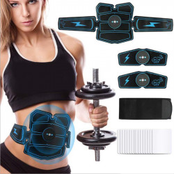 Rechargeable ABS Abdominal Muscle Trainer Body Beauty Stimulator Exercise Training EMS Fitness Equipment