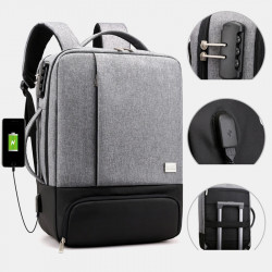 Anti-Theft Large Capacity 15.6 Inch Backpack Computer Bag With USB Charging Port