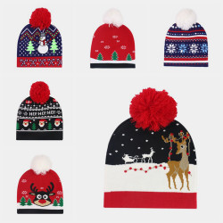 Christmas Knitted Jacquard Hat Unisex Warm Beanie Caps