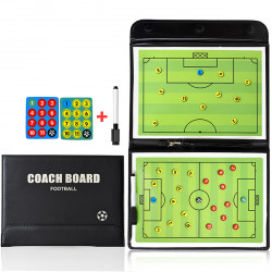 21inch Magnetic Football Trainer Tactical Board Folding Leather Professional Soccer Teaching Boar