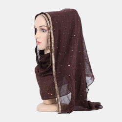 Hijab Scarf Chiffon Beaded Long Scarves