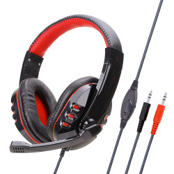 Soyto SY733MV PC 3.5mm Wired Game Headphone Bass Gaming Headset Stereo Headphones Earphone with Microphone for Computer PC Gamer