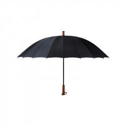 IPree 190T Impact Cloth 24 Bone Ultra-strength Wind-Resistant Umbrella Wooden Handle Straight Pole Sunshade