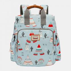 Women Light Weight Cartoon Large Capacity Backpack