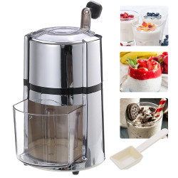 Household Manual Hand Ice Crusher Shaver Shredding Snow Cone Maker Machine Home Drinkware Device
