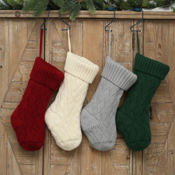 Knitted Christmas Socks Gift Bags Christmas Lingge Wool Sock