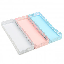 Rectangle Cake Pan Stand Dessert Pastry Tray Wedding Banquet Cupcake Holder Display