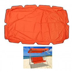 200x145CM Anti-UV Waterproof Canopy Tent Sunshade Sail Patio Replacement Fabric Cover For Garden Swing Chair