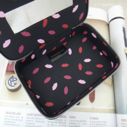 Hand-Painted Pattern Cosmetic Case Storage Box Jewelry Box With Mirror Cosmetic  Case