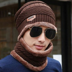 Knitted Hat  Scarf Cap Neck Warmer Skullies Beanies Warm