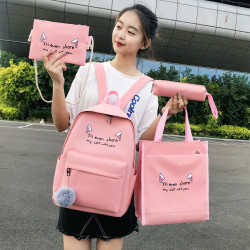 Primary School Book Bag Female 2019 New Korean Junior High School Students On Campus Simple Wild Shoulder Bag Small Fresh