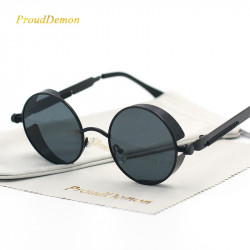 Round Metal Sunglasses For Men Women Retro Uv400 Sun Glasses