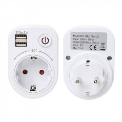 Dual Usb Port 2.1A Travel Charger Power Adapter Wall Power S