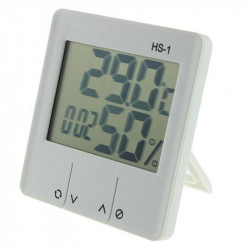 White Protable Hs-1 Digital Lcd Weather  Station Thermometer