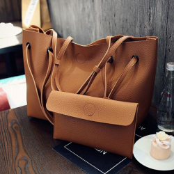 Tote Hand Bag Set Of 2 Women Shopping  Bag Lady Clutch Bag S