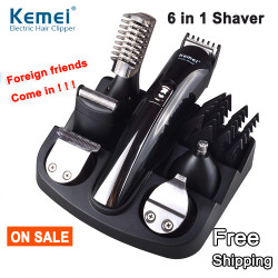 6 In1 Barbershop Electric Hair Beard Clipper Trimmer Shaver