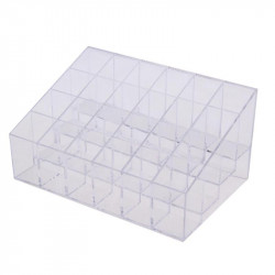 Clear Acrylic 24 Cosmetic Organizer Makeup Case Holder Displ