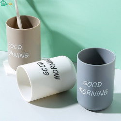 Creative Contracted Gargle Cup Upset Lovers Toothbrush Cup