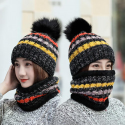 Knitted Cap Hat S Scarf  Hat Set Winter Women Beanie Hat Caps