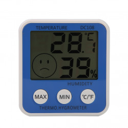 Large Lcd Digital Weather  Station Indoor Thermometer Hygrome
