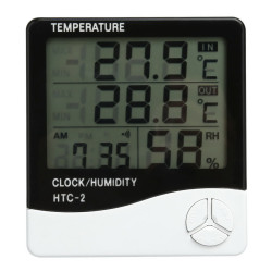 Htc-2 Lcd Digital Thermometer Hygrometer Weather  Station Tem