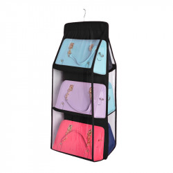 Pvc Women Hand Bag Wall Hanging Bag Organizer Storage Cabinet